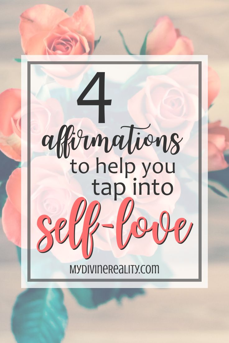 These 4 affirmations for Self-Love are great! They are simple yet powerful reminders. I'm so glad I found them!