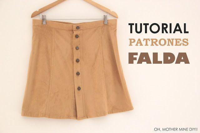 DIY Falda Ante Abotonada (patrones gratis y tutorial paso a paso)