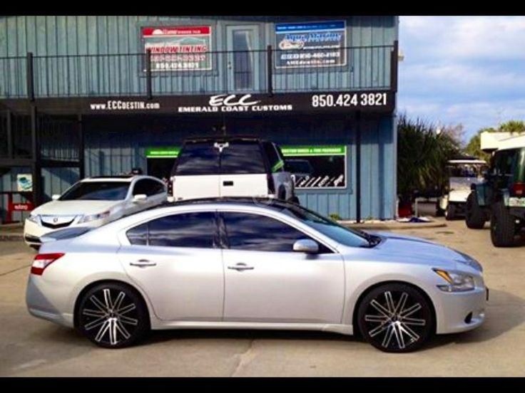 Nissan Maxima w/ Ruff Racing Wheels & Nitto Tires www.eccdestin.com