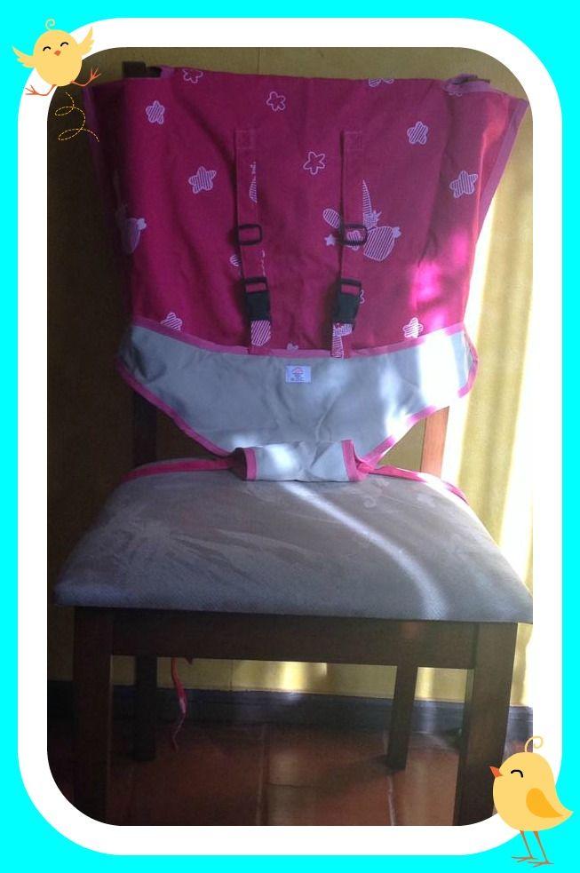 Silla portátil muy practica y novedosa la puedes doblar y llevar a todas partes, se adapta fácilmente a cualquier tipo de silla.