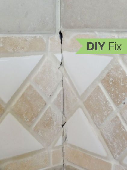 Cracked grout in the shower tells a buyers that there may be serious problems when there aren't any. Here is an easy fix.