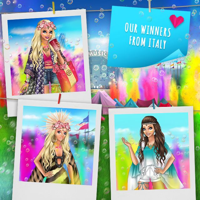 Color festival + mini collection Pose with Style winners ITALY