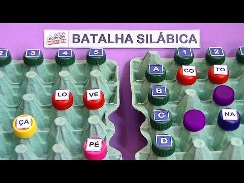 PIÃO SILÁBICO RECICLADO - CONSTRUÇÃO DE PALAVRAS - YouTube