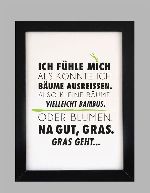 Originaldruck - Gras geht... - Druck von Formart - ein Designerstück von Formart-Zeit-fuer-schoenes bei DaWanda