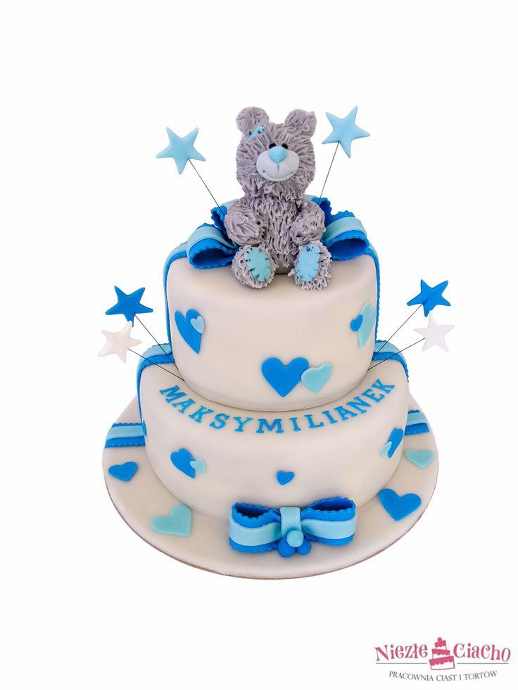Torty urodzinowe dla dzieci, tort z misiem, misiu na torcie, piętrowy tort, torty urodzinowe, urodziny dziecka, Tarnów