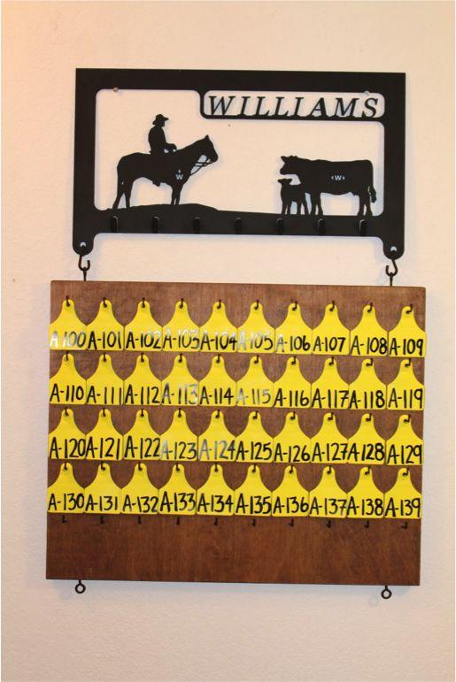 Rural Housewives   Calf Organization: DIY Tag Board   http://www.ruralhousewives.com
