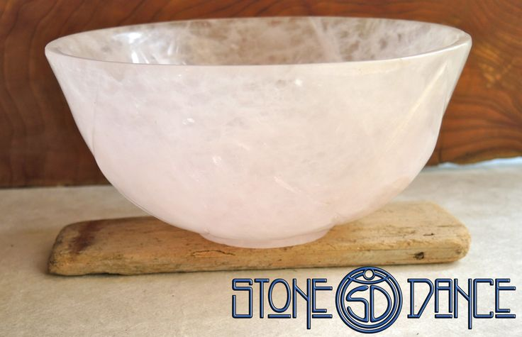 rose quartz size bowl by StoneDance on Etsy
