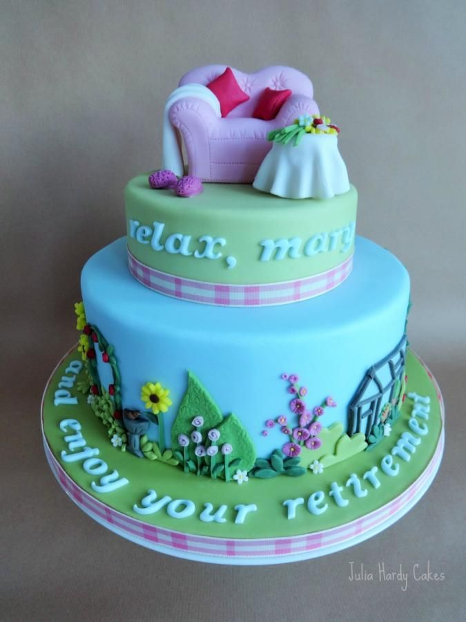 Mary's Retirement Cake - Cake by Julia Hardy