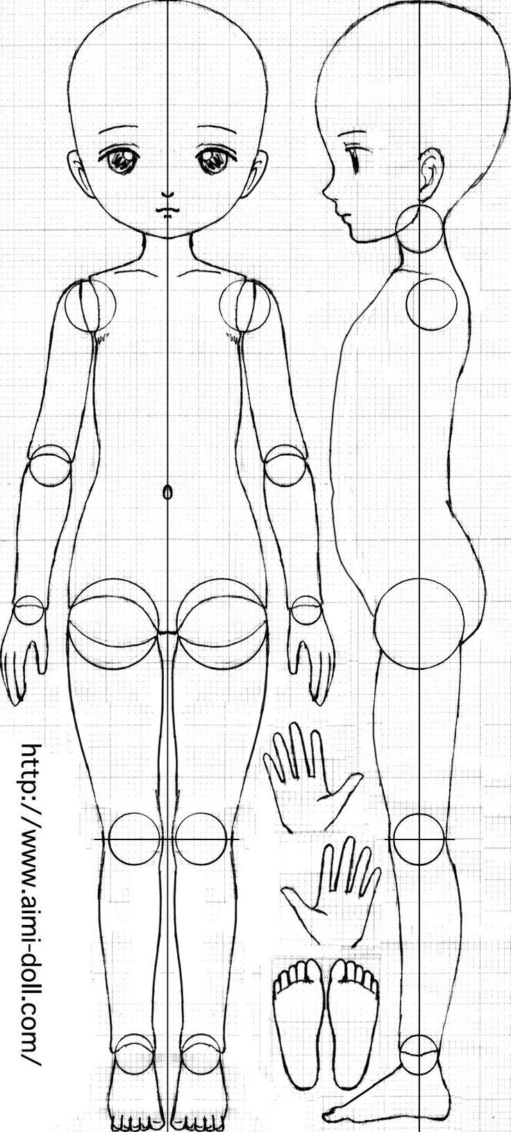 схема шарнирной куклы фото