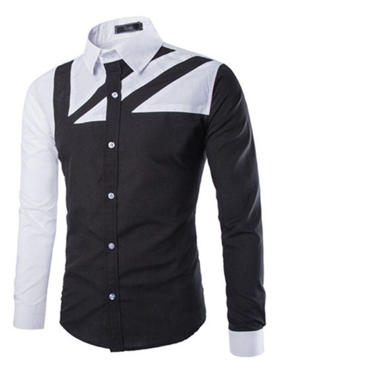 Encontrar Más Camisas Casuales Información acerca de De marca para Hombre camisa…