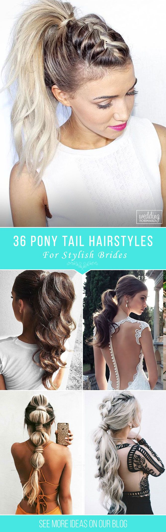 36 Party Perfect Pony Tail Hairstyles For Your Big Day ❤ Pony tail hairstyles ...
