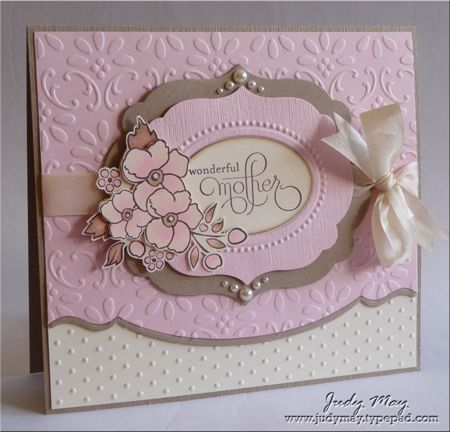 Love the use of the embossing folders in the main panelHandmade Mothers Day Cards, Handmade Cards Mothers Day, Embossing Folder, Beautiful Cards, Stampin Up Mothers Day Cards, Maine Panels, Cards Handmade Mothers Day, Mothers Day Cards Handmade, Beautiful Mothers