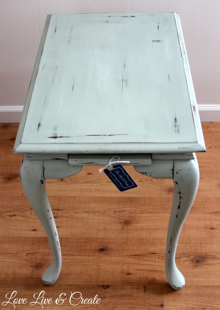 """""""Mint"""" coffee table..Annie Sloan mix of duck egg blue & pure white - SOLD OUT"""