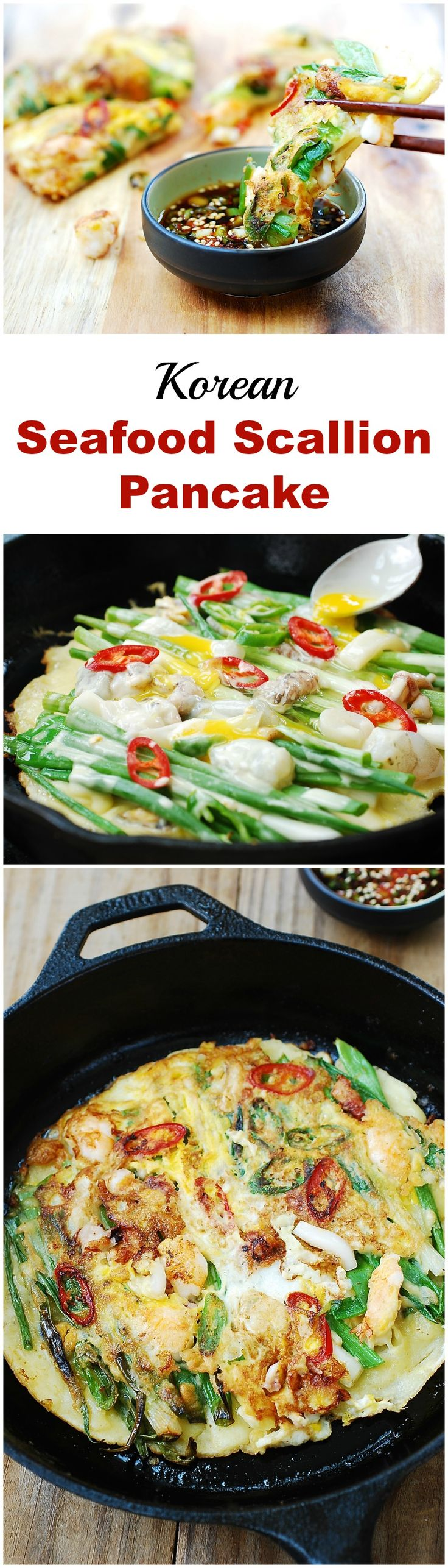 Everything you need to know about how to make crispy, delicious Korean Seafood Scallion pancake (haemul pajeon)!