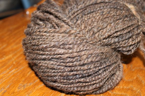 Moorit Shetland rug or outerwear yarn 2 by peacefulmtnhandspun