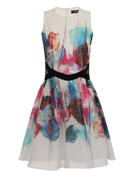 Little Mistress Multi coloured prom dress