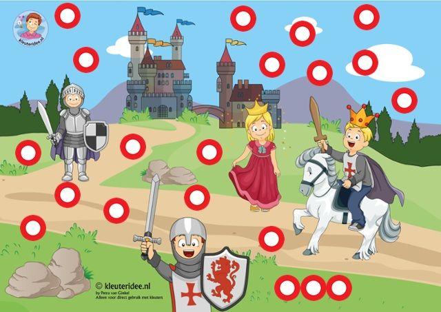 Interactieve praatplaat ridders en kastelen voor kleuters, by Petra van Ginkel van kleuteridee, met veel informatieve video's, Preschool knight theme