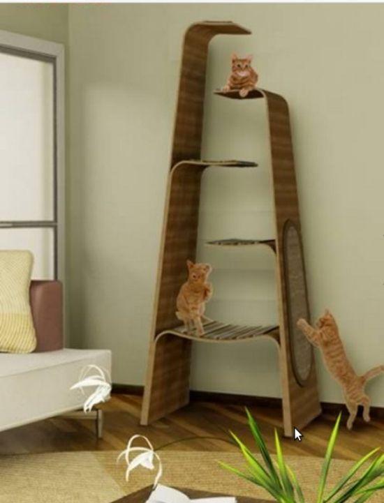 144 besten katzenm bel bilder auf pinterest haustiere k tzchen und hunde - Wandkratzbaum selber bauen ...
