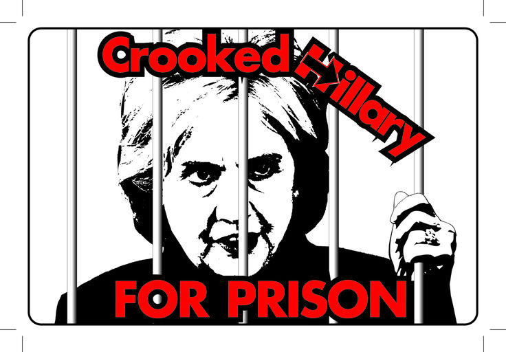 Crooked Hillary for Prison -  ANTI-HILLARY ANTI-CLINTON POLITICAL BUMPER STICKER