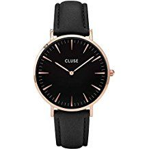 Cluse La Bohème Rose Gold Black Ladies Watch CL18001