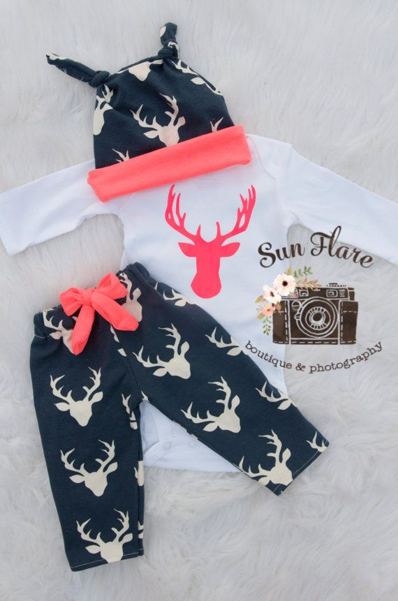 camo baby-baby girl coming home outfit-hunting by SunFlareBoutique