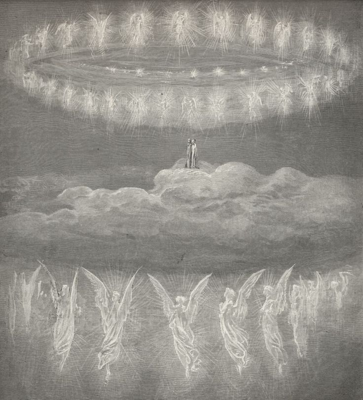 Gustave Dore XIV - Dante Alighieri - Illustration for Paradiso (of The Divine Comedy) by Paul Gustave Louis Christophe Doré.
