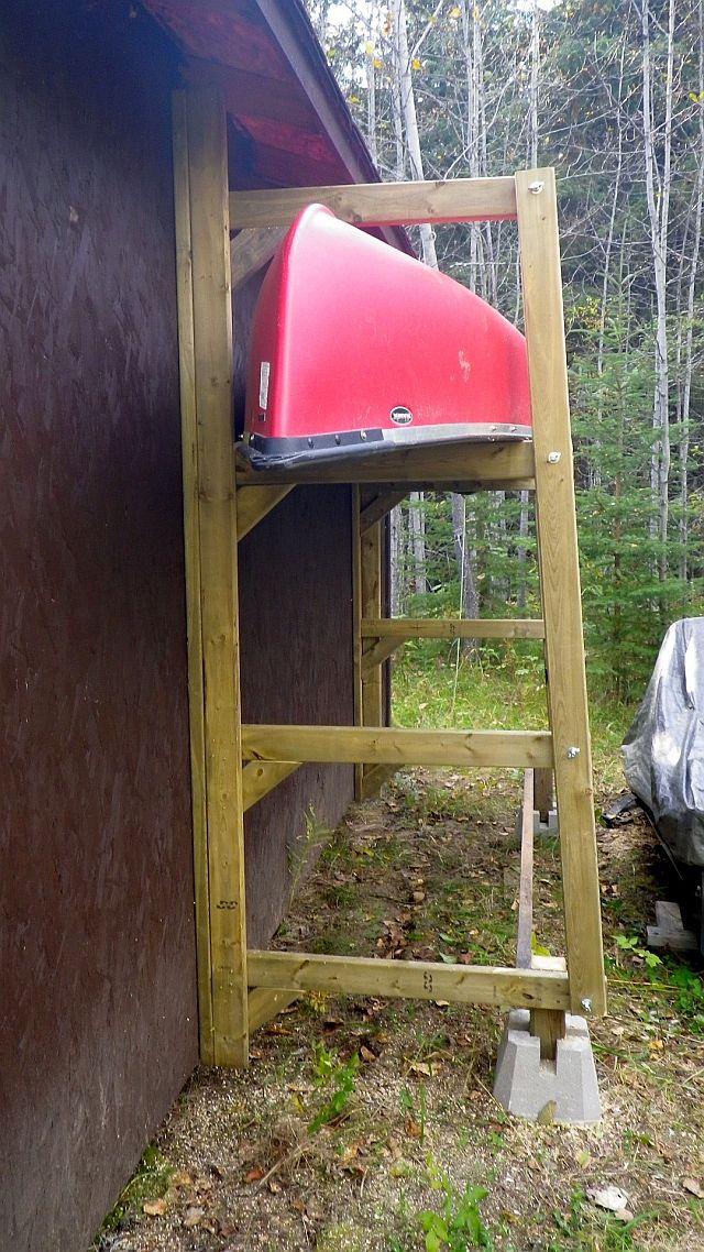 Best 25 canoe storage ideas on pinterest kayak rack for Canoe storage shed