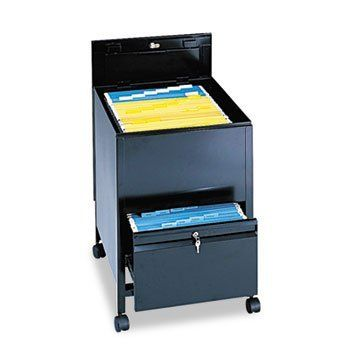 Locking Mobile Tub File With Drawer, Legal Size, 20w x 26d x 28h, Black by SAFCO (Catalog Category: Furniture & Accessories / File Cabinets) by Safco. $583.13. Locking Mobile Tub File With Drawer, Legal Size, 20w x 26d x 28h, Black by SAFCOSturdy steel construction with a textured finish. Tub file on top with slide-away cover keeps dust out while securing files. File drawer below for additional storage. Both compartments are keyed alike. Four swivel casters (two locki...