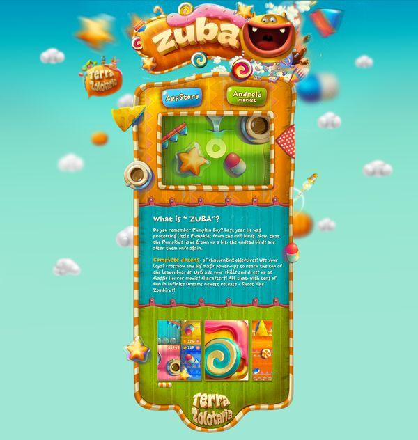 kids website web design fun colorful rainbow candy sweets childhood children kindergarten