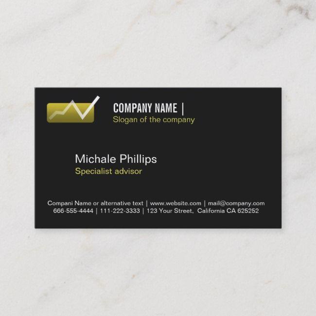 Adviser In Stock Market Values Black Elegant Business Card Zazzle Com Elegant Business Cards Stock Market Unique Business Cards