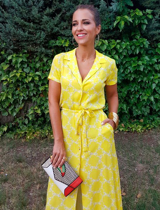 Paula Echevarría en su blog combina su look con Anillo Car de Maramz.