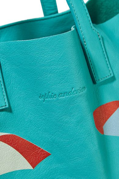 Sophie Anderson - Minca Printed Leather Tote - Turquoise - one size