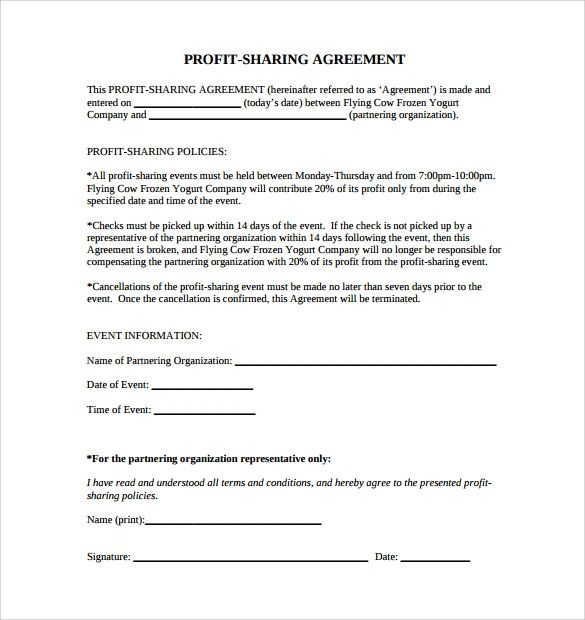 Profit Sharing Letter To Employees Awesome 11 Profit Sharing