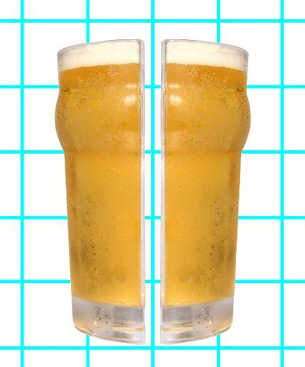 This Pointless Beer Glass Is Actually Kind Of Awesome #refinery29  http://www.refinery29.com/half-pint-beer-glass