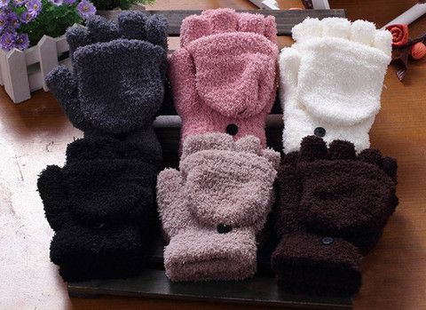 Sweet Cashmere HoodedWinter Gloves With Exposed Fingers – teeteecee - fashion in style