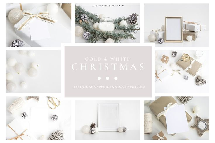 16 High Resolution Styled Stock Photos and Mockups Gold & White Christmas bundle $25 perfect for your online shop, website or blog!