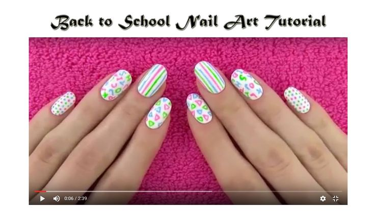Back to School Nail Art Tutorial  | Makeup Tutorial Channel... See More Here : http://goo.gl/jDA1dc  Hope Your Enjoy! ..... Like, Share, Comment & Subscribe Us!  More Makeup Tutorial Channel videos ... Click Here: https://www.youtube.com/channel/UC3SbRN6zFEgCdnKHZj28B4w #nailart #nailarttutorial #nailarttutorialvideo