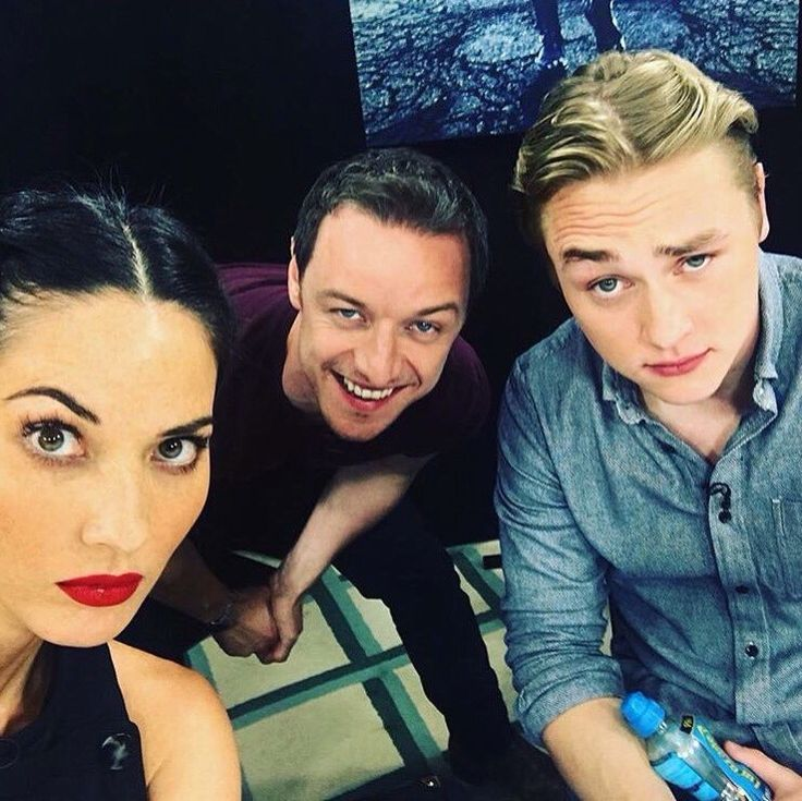 X-Men Apocalypse: Olivia Munn, James McAvoy and Ben Hardy