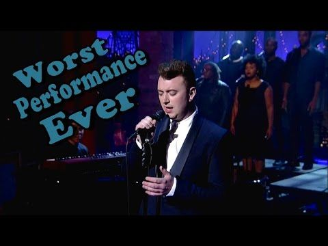 Sam Smith - Worst Live Performance Ever - Stay With Me (Shreds) - YouTube