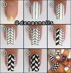 Step by step DIY funky nail art