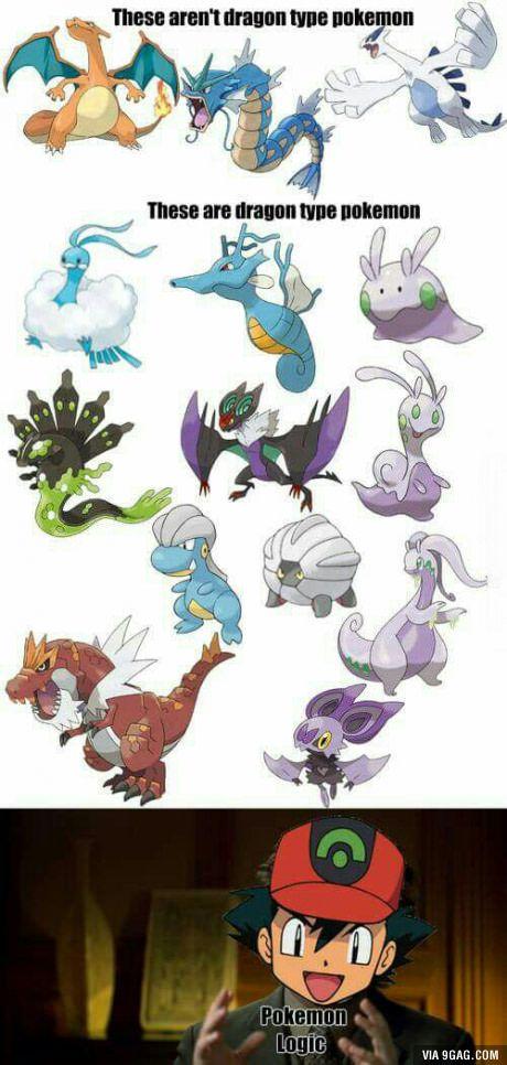 Lógica Pokémon... Al menos Mega Charizard X sí es tipo dragón XD