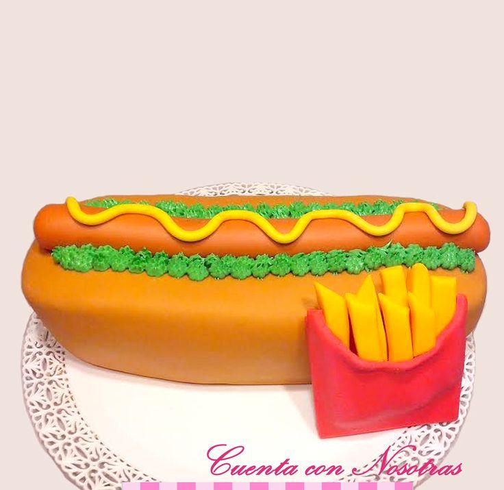 Torta hotdog Torta completo Hotdog Cake