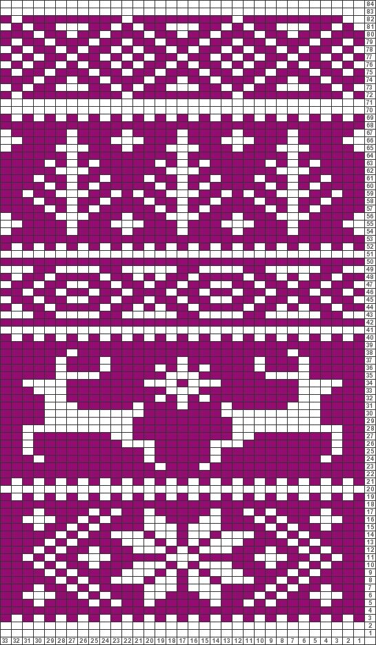 Tricksy Knitter Charts: Fair Isle reindeer pattern (63801) (70587) (74461) by MarySy