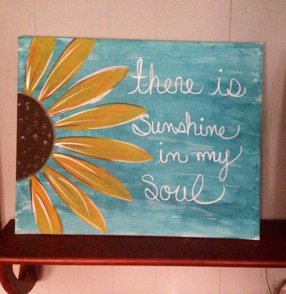 Sunflower Canvas 16x20 on Etsy, $30.00