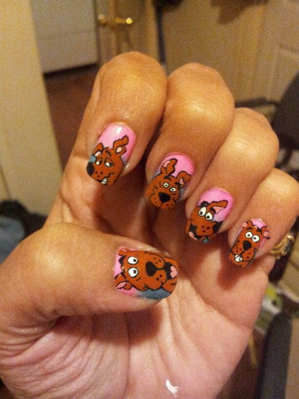 51 best scooby doo nail art images on pinterest scooby doo scooby doo faces hand painted by me prinsesfo Image collections