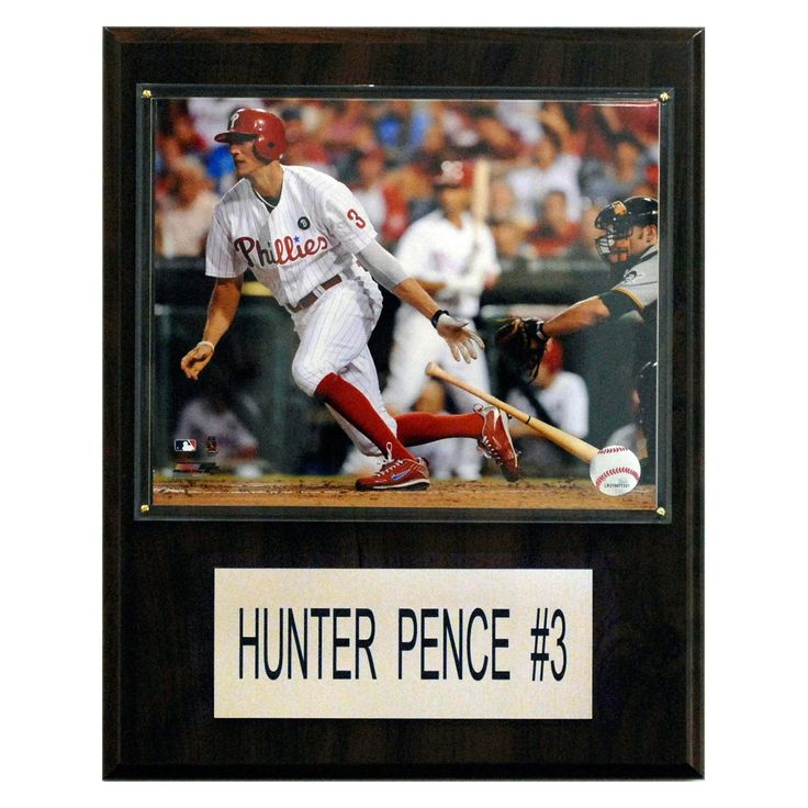 MLB 12 x 15 in. Hunter Pence Philadelphia Phillies Player Plaque - 1215HPENCE