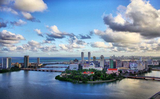 Vista aérea do Recife Antigo. Veja fotos da capital pernambucana