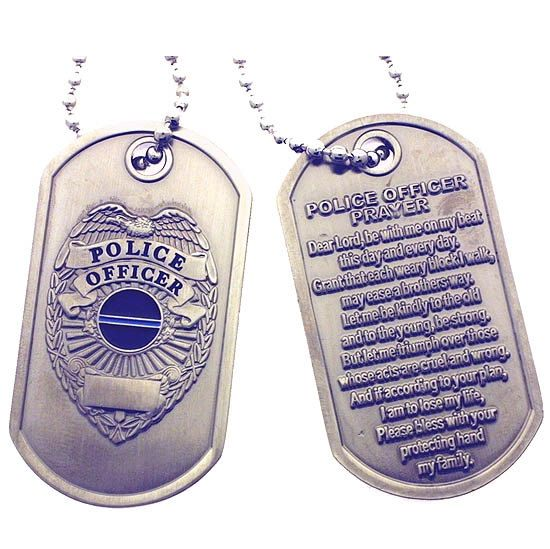 Police Shield  Police Officer Prayer Brushed Steel by RescueTees, $14.99
