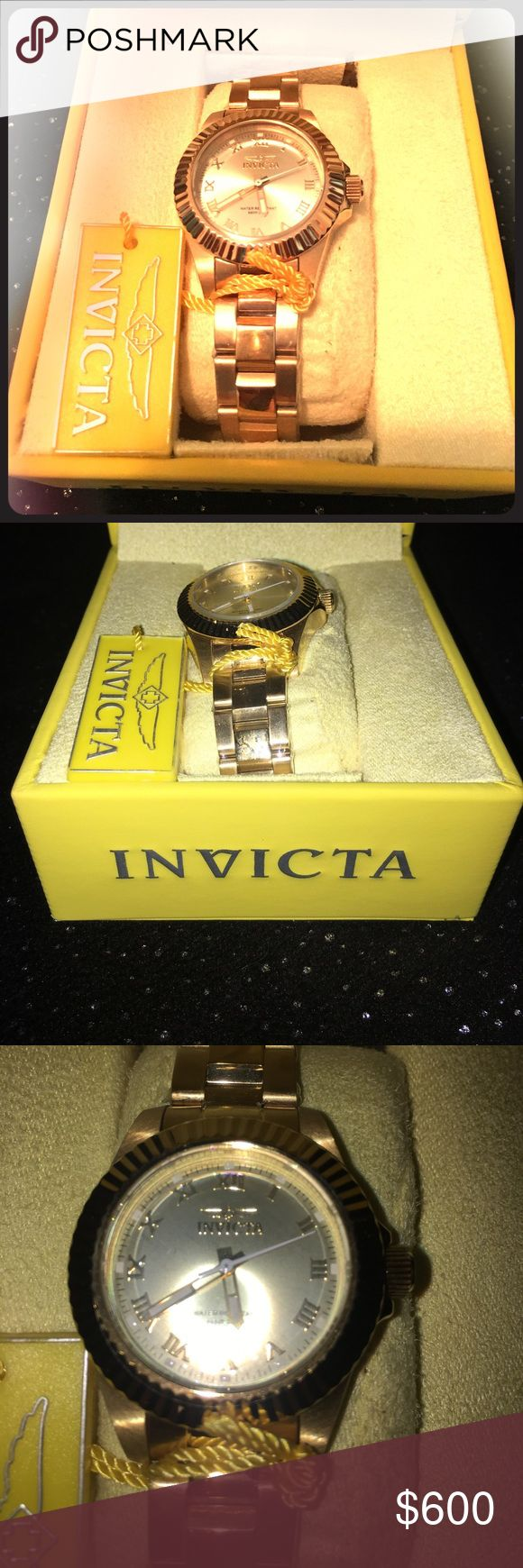 Invicta Gold Watch This is a beautiful watch!!!! Never worn still in packaging!!!!!! Invicta Accessories Watches