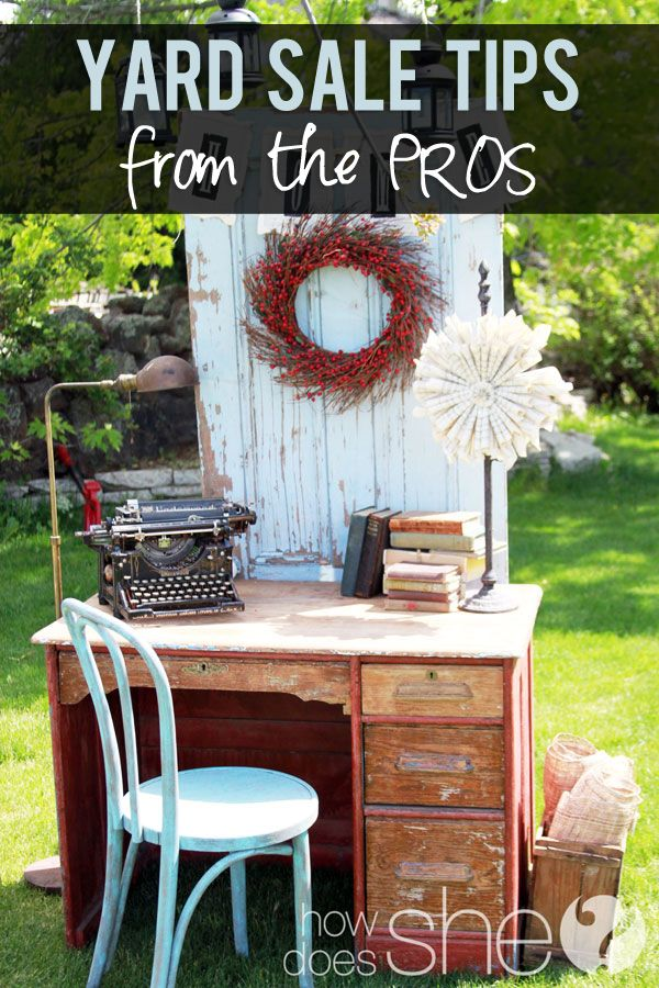 One man's trash is another man's treasure! Learn how to have a good eye for your soon-to-be treasure with these awesome tips! #yardsale #diy #thrifting howdoesshe.com